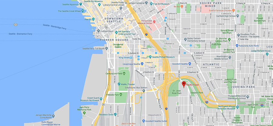 Google map of Seattle