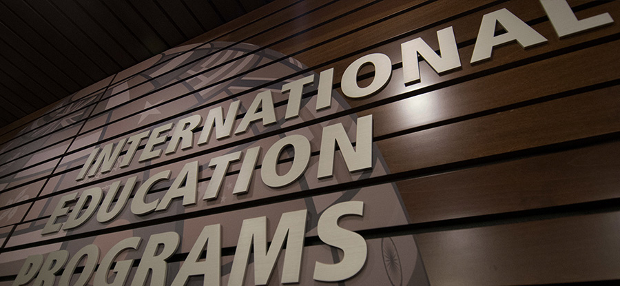 International Education signage