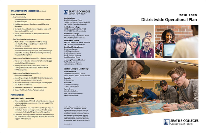 Seattle Colleges district strategic plan 11x17