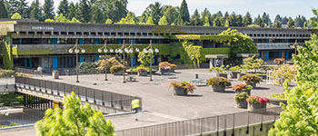 Brutalist architecture at North Seattle College