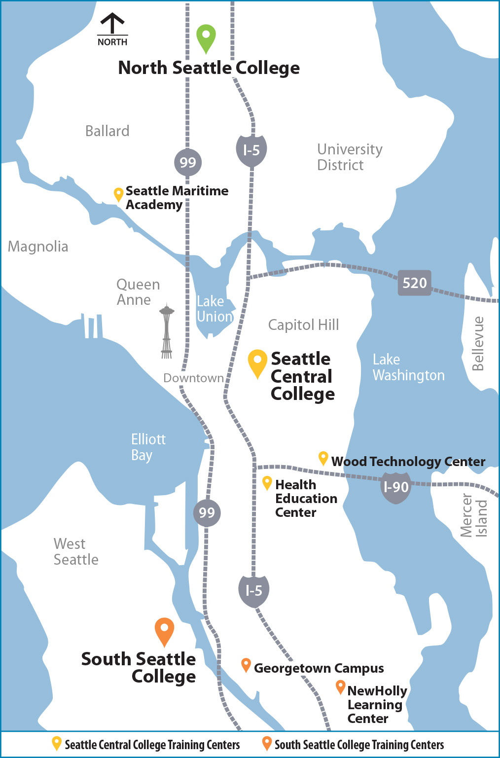 Seattle Colleges District - our locations across Seattle