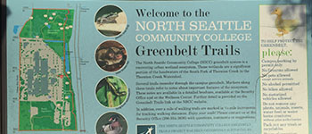 Greenbelt Trail - hiking trail sign at Bartonwood Natural Area